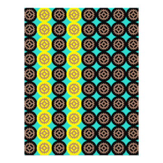 Alternating gearwheels pattern 21.5 cm x 28 cm flyer