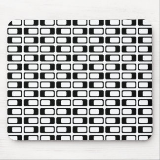 Alternating Rectangles (Black with White) Mouse Pad