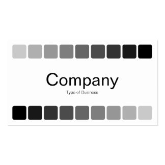 Alternating Shades Business Card Template