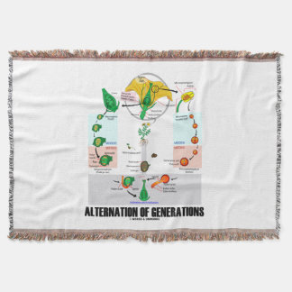 Alternation Of Generations Flower Life Cycle Throw Blanket