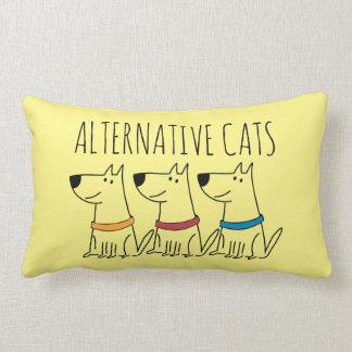 """Alternative Cats Cotton Throw Pillow,  13"""" x 21"""" Lumbar Cushion"""