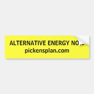 ALTERNATIVE ENERGY NOW BUMPER STICKER
