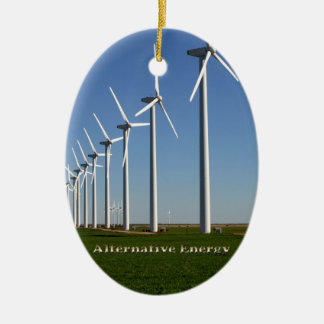 Alternative Energy - The Green Power Ceramic Ornament