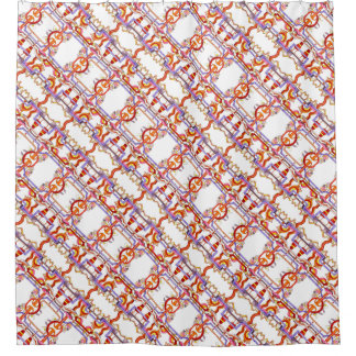 Alternative Energy-Whimsical Abstract Pattern Shower Curtain