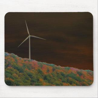 Alternative Energy Wind Turbine Fall Mousepad