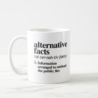 Alternative Facts Definition - Information arrange Coffee Mug