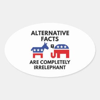 Alternative Facts Oval Sticker