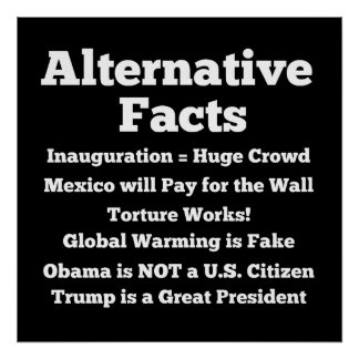 """""""Alternative Facts"""" Poster"""