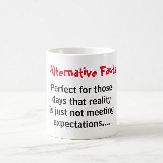Alternative facts vs reality coffee mug