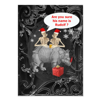 Alternative funny Gothic Christmas 13 Cm X 18 Cm Invitation Card