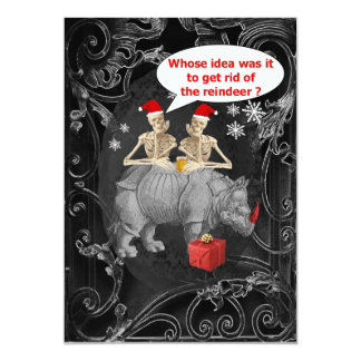 Alternative funny Gothic Christmas 13 Cm X 18 Cm Invitation Card