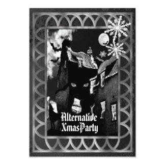 Alternative  Gothic  Christmas 13 Cm X 18 Cm Invitation Card