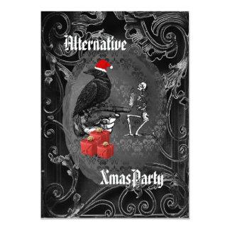Alternative  Gothic Santa Christmas 13 Cm X 18 Cm Invitation Card