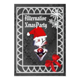 Alternative  Gothic Santa Christmas Personalized Invite