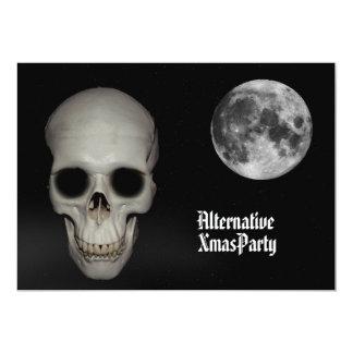 Alternative  Gothic Skull  Christmas 13 Cm X 18 Cm Invitation Card