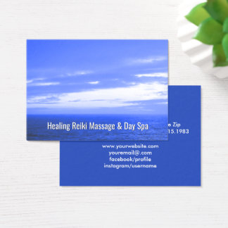 Alternative Medicine Reiki | Holistic Health Ocean Business Card