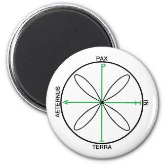 Alternative Peace Symbol 6 Cm Round Magnet