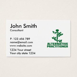 Alternative practitioner business card