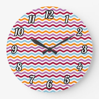 Alternative retro waves large clock