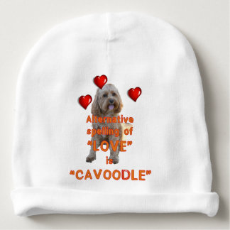 alternative spelling of LOVE is CAVOODLE Baby Beanie