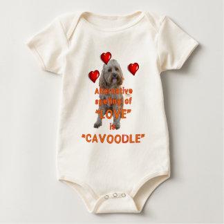 alternative spelling of LOVE is CAVOODLE Baby Bodysuit