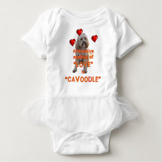 alternative spelling of LOVE is CAVOODLE Baby Bodysuit