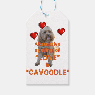 alternative spelling of LOVE is CAVOODLE Gift Tags