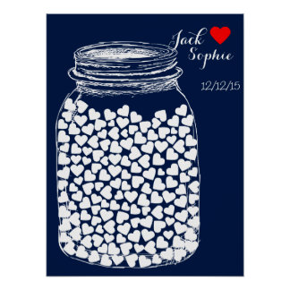 Alternative wedding guest book mason chalk 150 poster