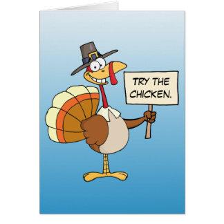 Alternatives to Turkey for Thanksgiving Dinner Card