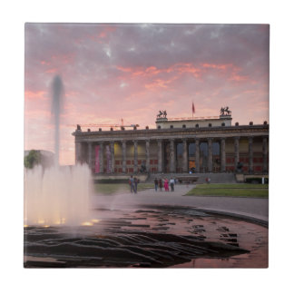 Altes Museum and Lustgarten in Berlin Small Square Tile