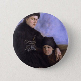 Altesnational dachau woman with young child 6 cm round badge