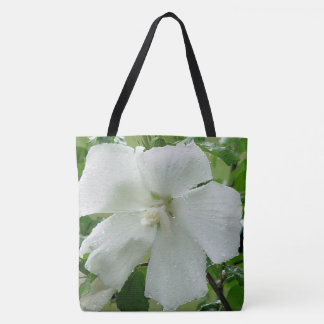 Althea flower after the rain tote bag