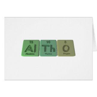 Altho-Al-Th-O-Aluminium-Thorium-Oxygen Greeting Card