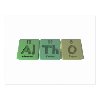 Altho-Al-Th-O-Aluminium-Thorium-Oxygen Postcards