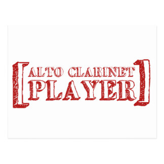 Alto Clarinet Player Post Cards