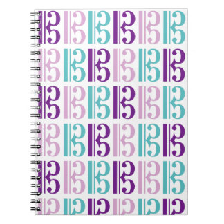 Alto Clef - Purple and Teal Spiral Note Books
