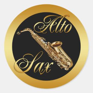 ALTO SAX CLASSIC ROUND STICKER