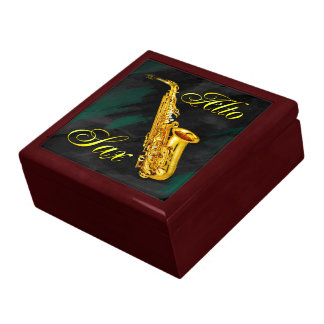 Alto Sax Keepsake Jewelry & Trinkets Gift Box