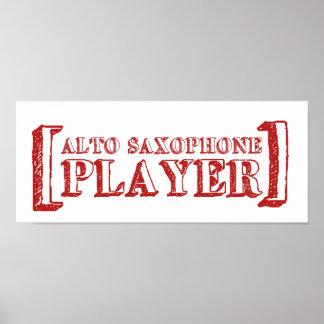 Alto Saxophone  Player Print