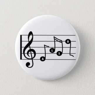 Alto Singer Musical Button