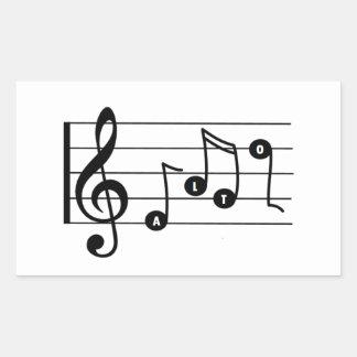 Alto Singer Musical Sticker