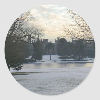 Alton Towers in the Snow Classic Round Sticker