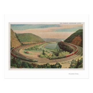 Altoona, Pennsylvania, The Famous Horseshoe Curv Postcard