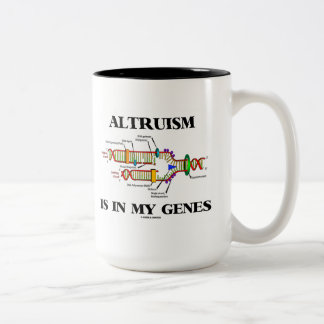 Altruism Is In My Genes (DNA Replication) Two-Tone Coffee Mug