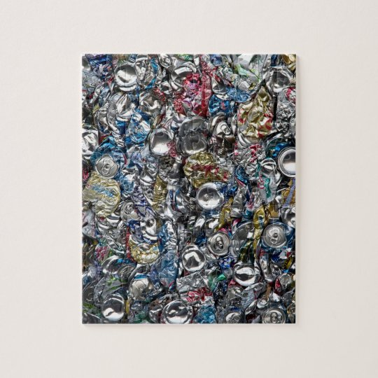 Aluminium Cans Being Recycled Jigsaw Puzzle
