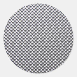 aluminium classic round sticker