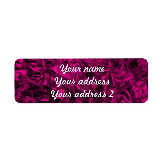 Aluminium Foil Design in Pink Return Address Label