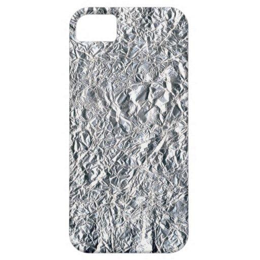Aluminium foil effect design iPhone 5 cases