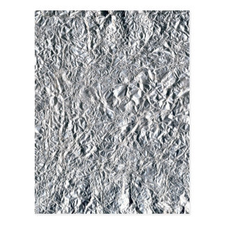 Aluminium foil effect design postcard
