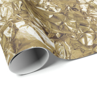Aluminium Foil Gold Glam Metallic Wrinkled Wrapping Paper